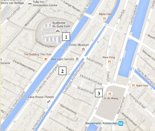 карта квартал красных фонарей