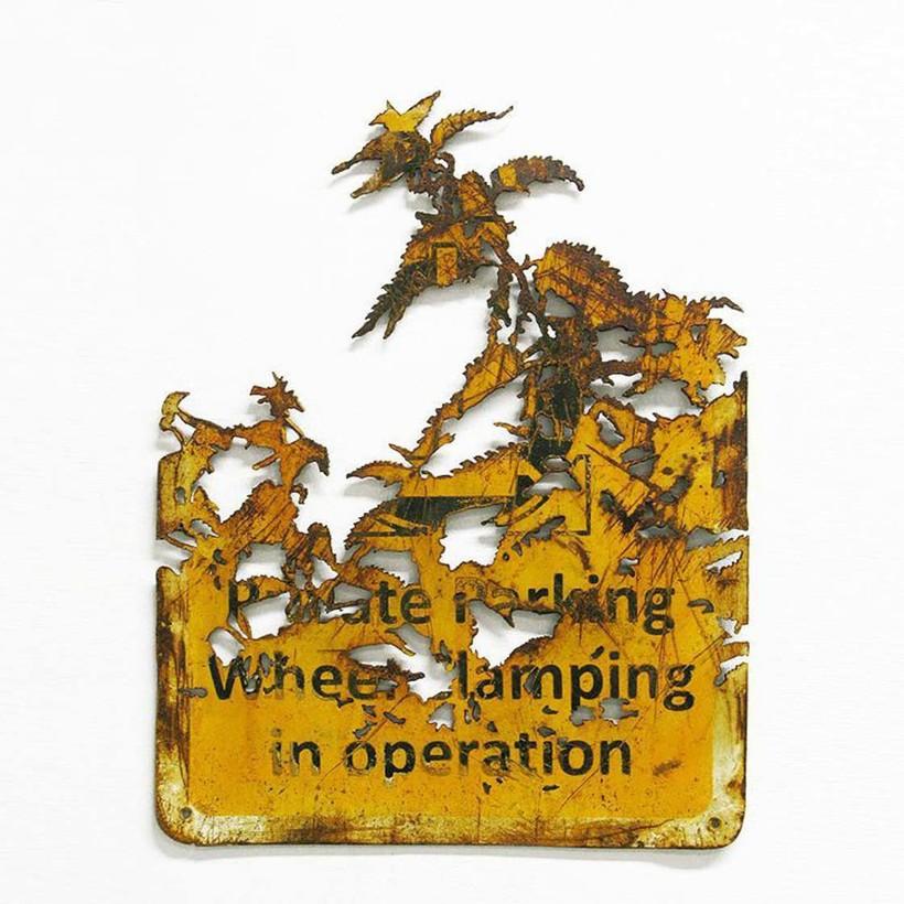 Британский художник превращает старый металлолом в невероятные произведения искусства