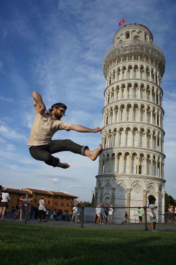 10 фото о том, что большинство людей не умеет фотографироваться с Пизанской башней