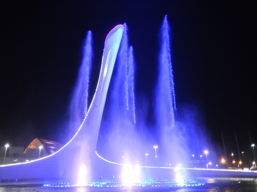 Ночная прогулка по Олимпийскому парку