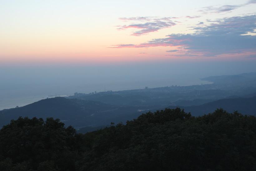 Закат на море. Вид с Башни Ахун.