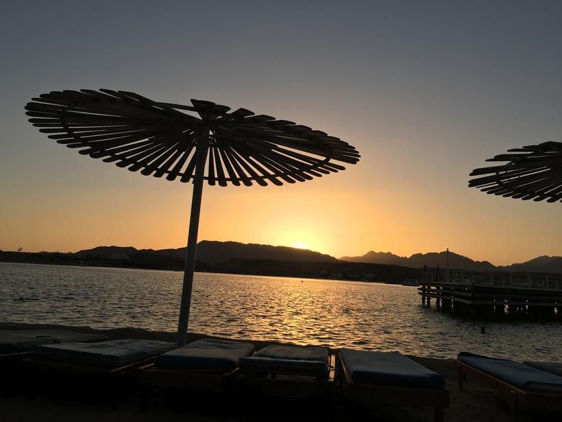 Красивейший закат в Шарме