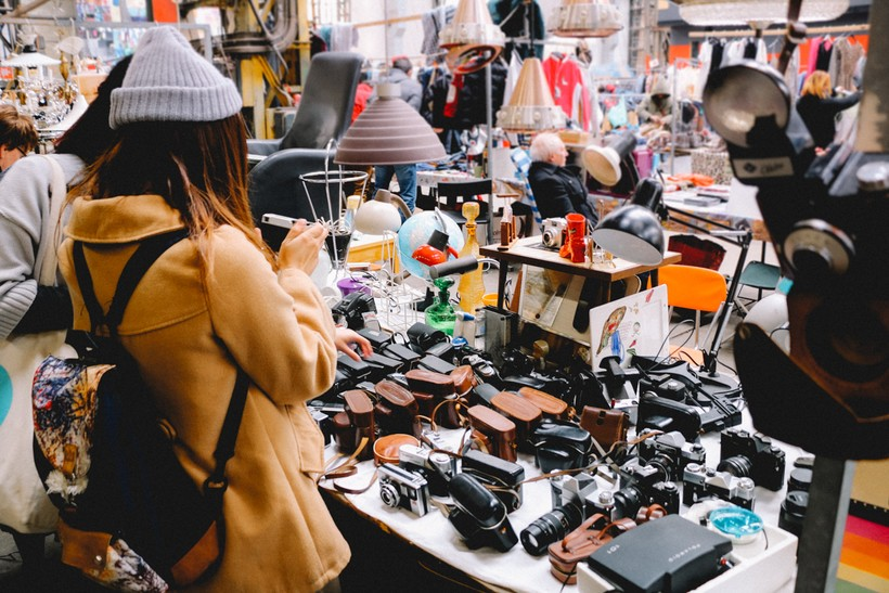 Блошиный рынок Waterlooplein, Амстердам