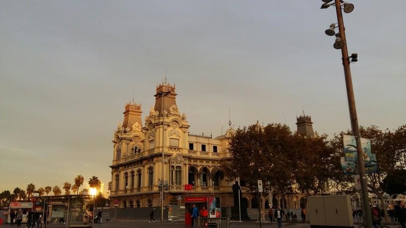 Закат в Барселоне, декабрь 2017
