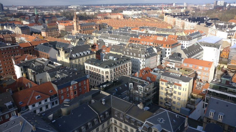 Вид на Копенгаген из окна