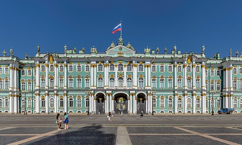 Парадный фасад Зимнего дворца