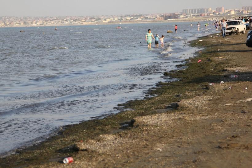 Купальный сезон в Каспийском море