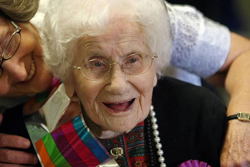Старейшая француженка — Жанна Кальман