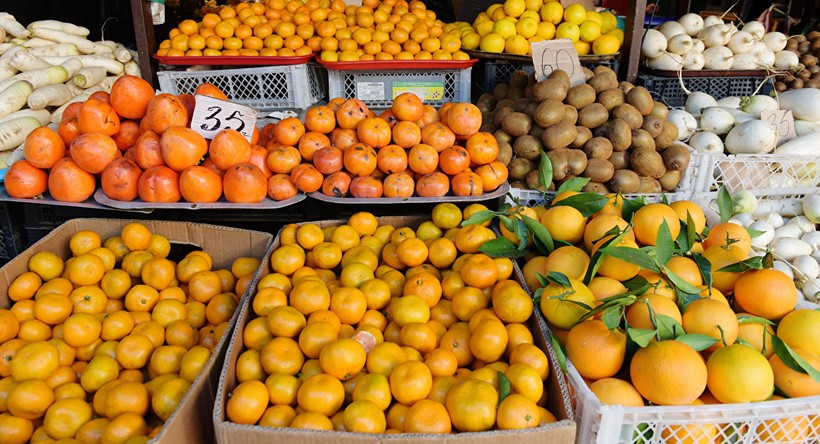 Фруктовый рынок Сухума в феврале