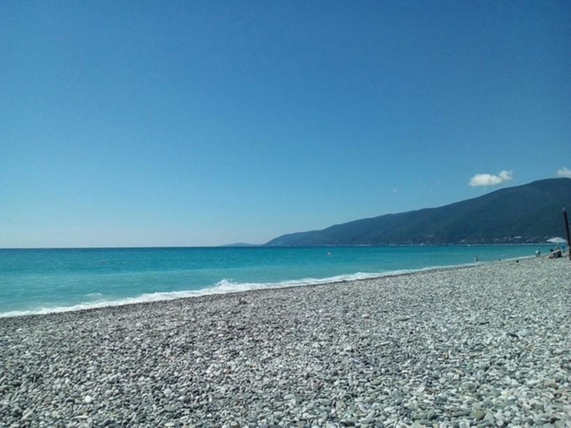 пляж, г. Гагра