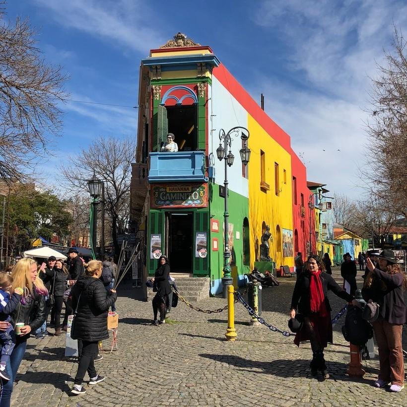 В квартале La Boca, Буэнос-Айрес