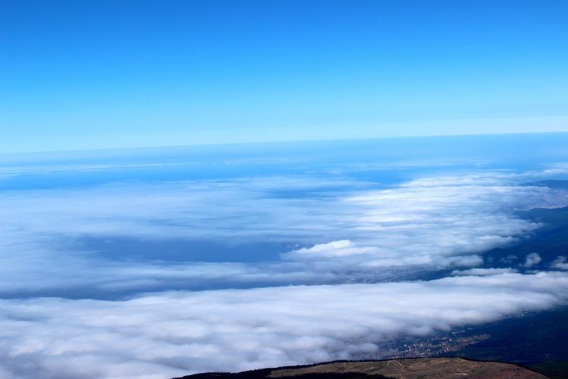 купание в облаках, вулкан Тейде. Тенерифе