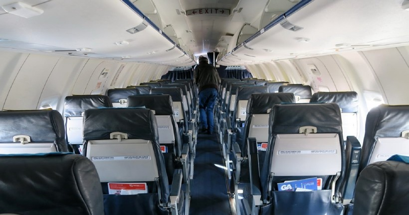 салон самолёта GeorgianAirways