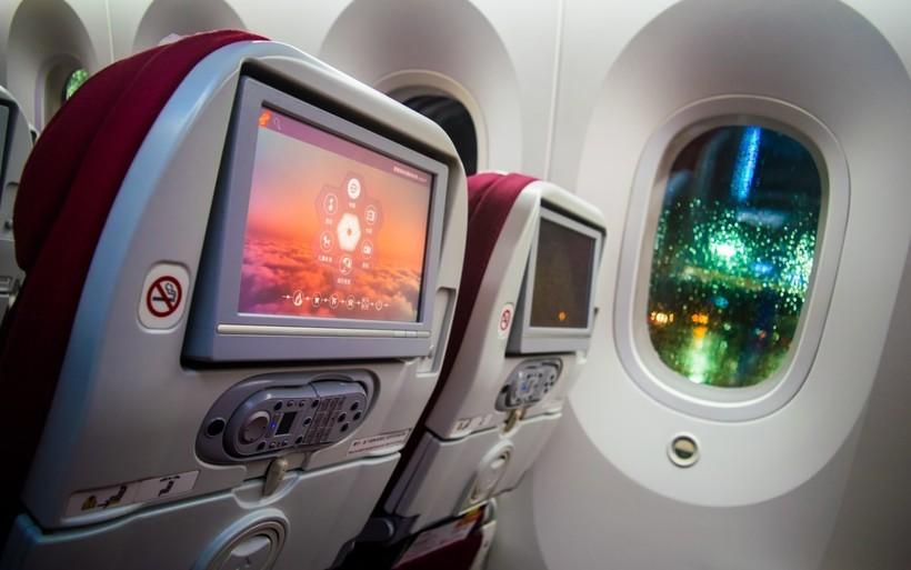 салон самолёта Китайских авиалиний Hainan Airlines