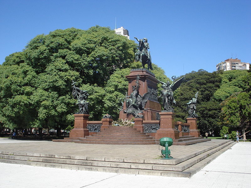 Памятник генералу Сан-Мартину