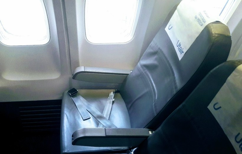 салон самолёта авиакомпании Utair