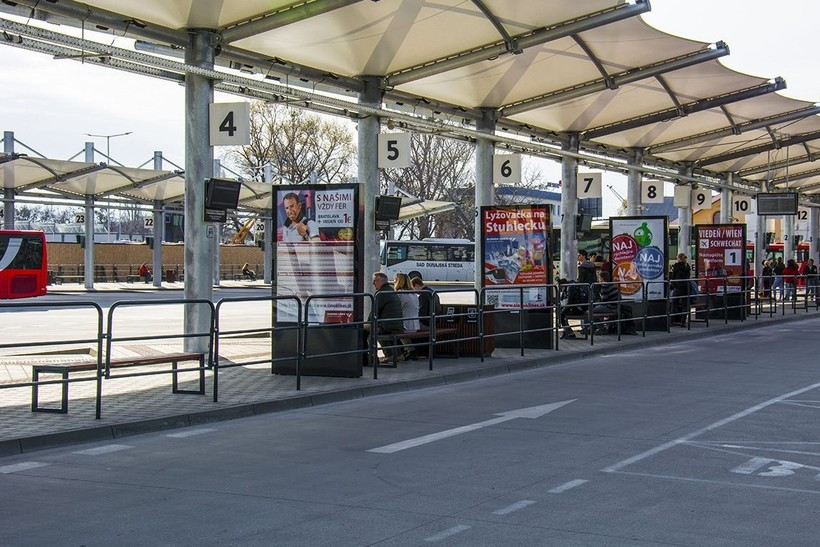 Братислава: главный городской автовокзал.