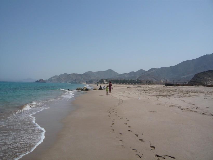 Июнь на пляже Al Aqah, Фуджейра