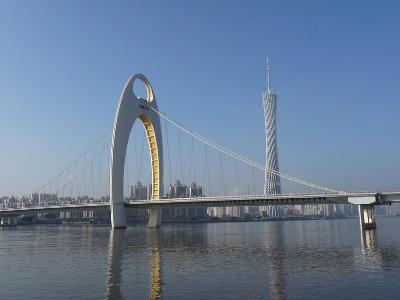 Мост в Гуанчжоу, октябрь 2018
