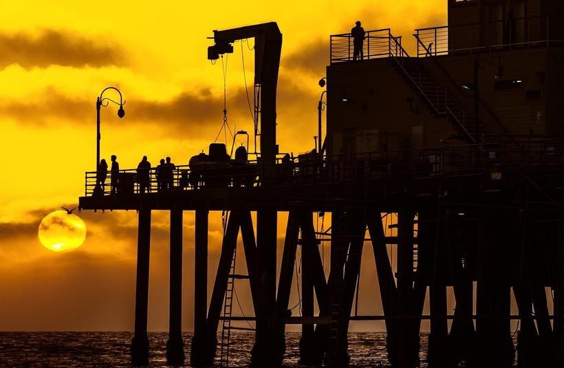 Закат на пирсе Санта-Моника, Лос-Анджелес
