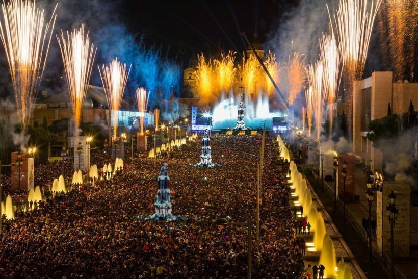 Новый год в Барселоне