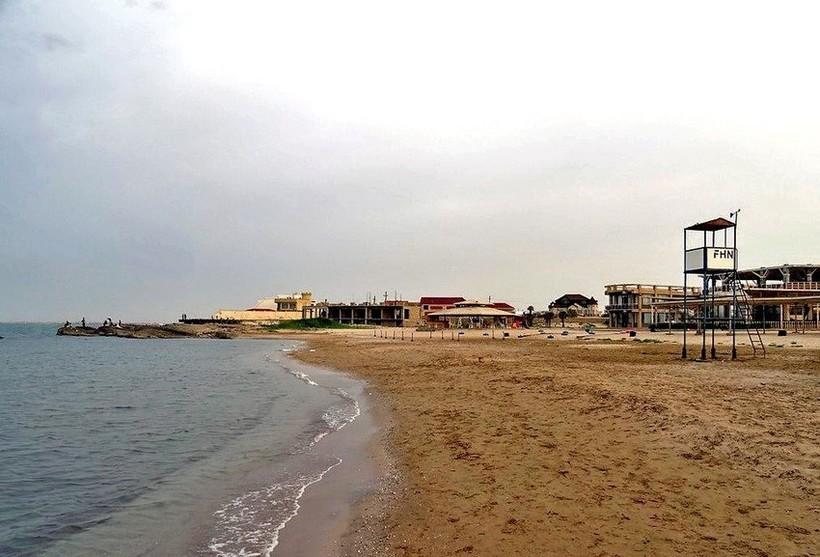 Пляж в Загульбе: раннее-ранее июльское утро.