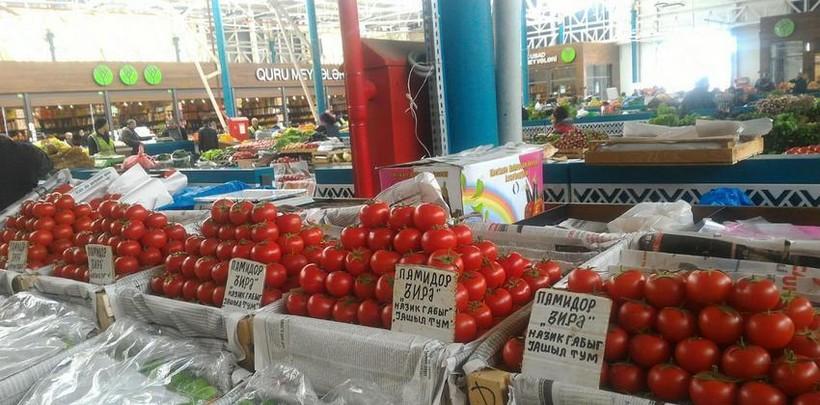 Апрельские помидоры на бакинском рынке.