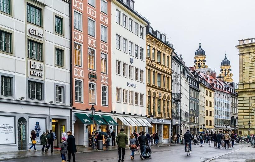 Прогуливаюсь по Мюнхену в пасмурный и дождливый день