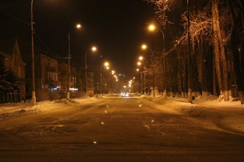 Ночной Иркутск в феврале