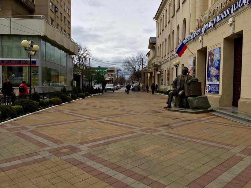 Улица Краснодара весной