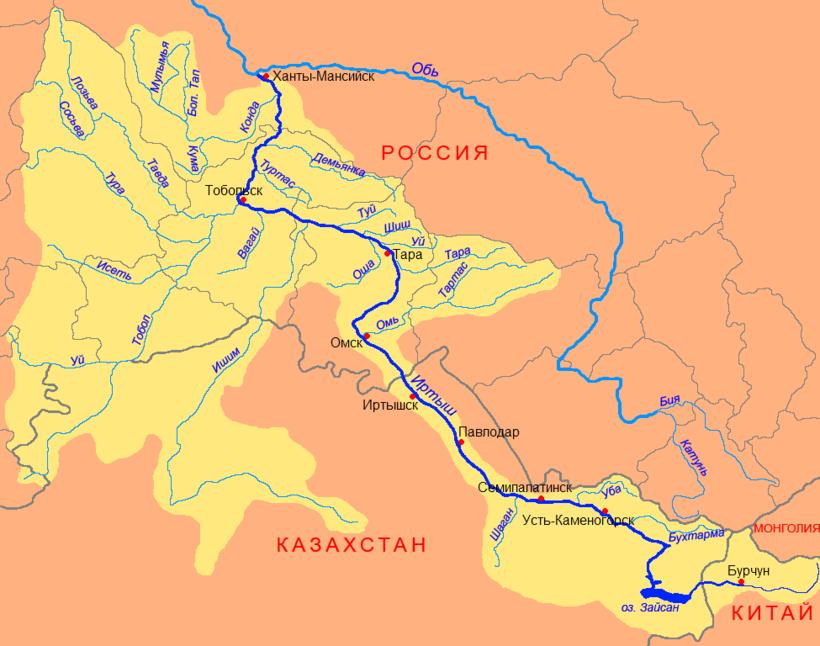 Бассейн реки Иртыш