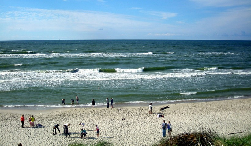 Дикий пляж на Куршской косе. Июльский полдень, Калининград.