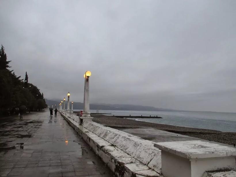 Типичная погода в Сухуме в декабре