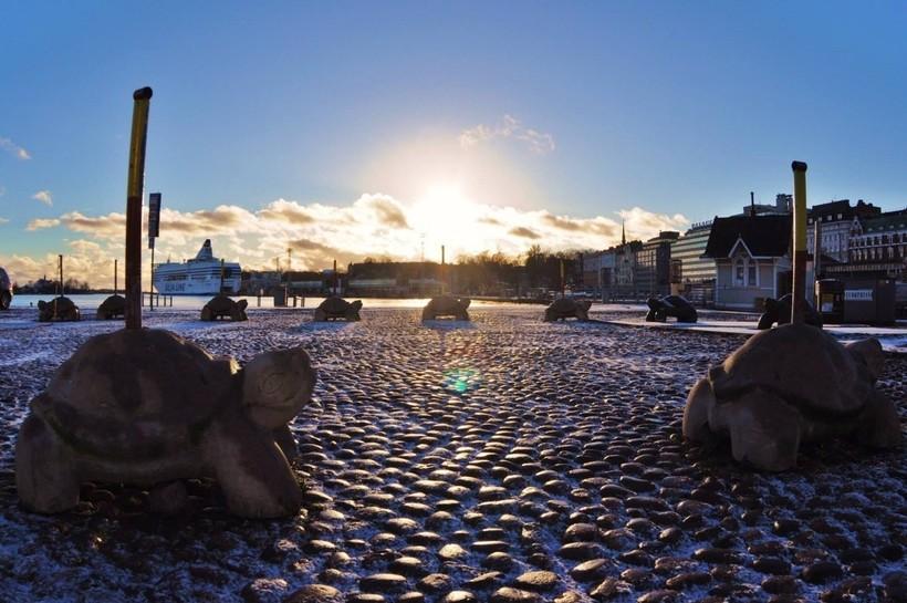 Одна из улиц Хельсинки