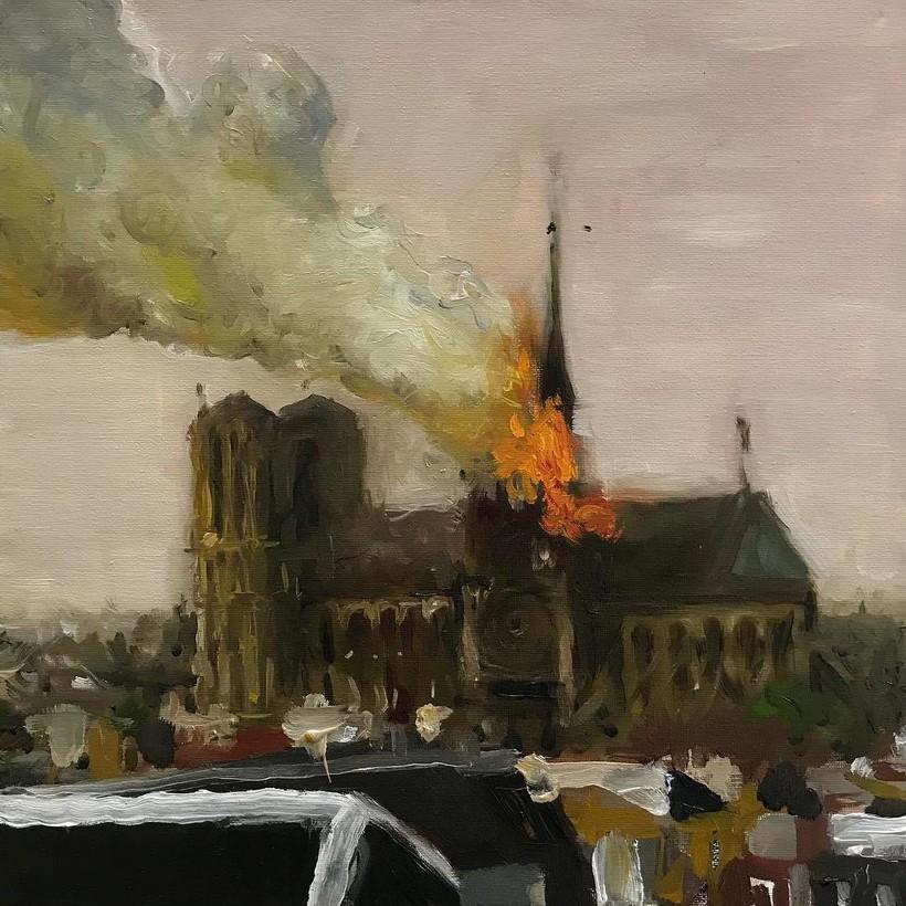 Художники со всего мира отдают дань уважения собору Парижской Богоматери в зарисовках