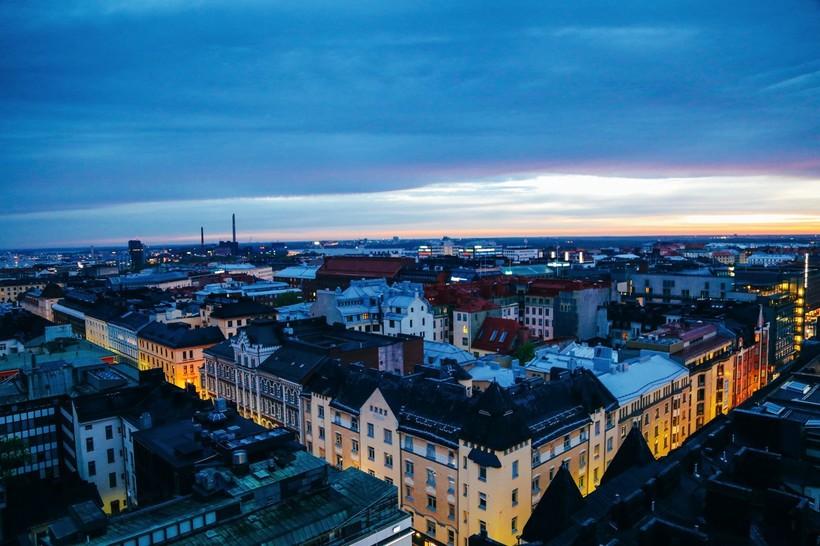 Крыши домов Хельсинки
