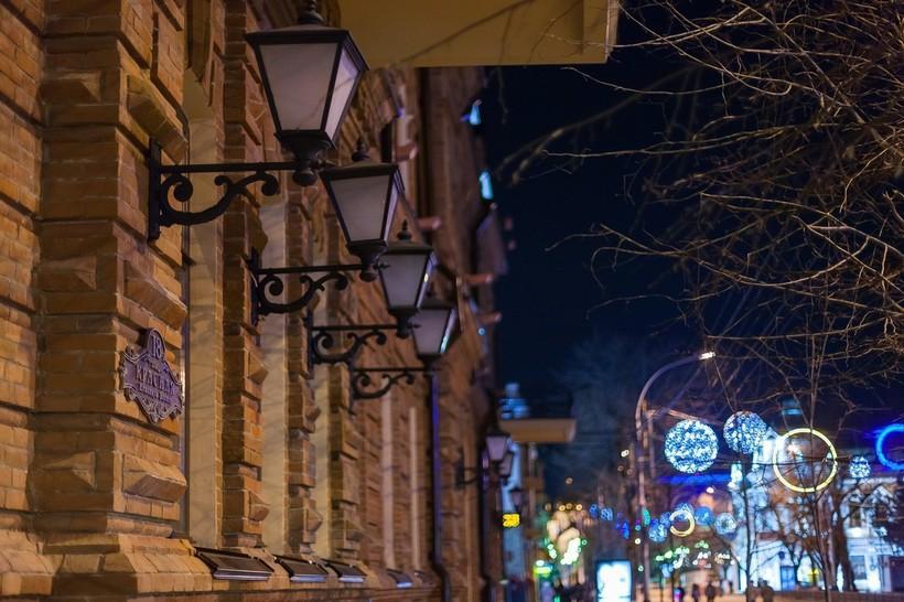 Краснодар февральской ночью
