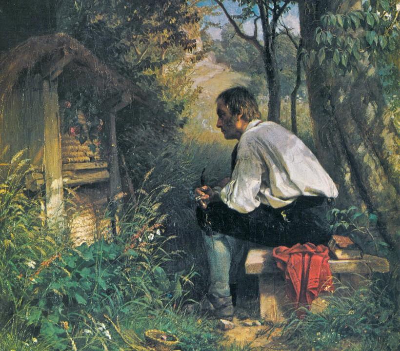 Подруга-пчела. Художник Ганс Тома (1839-1924)