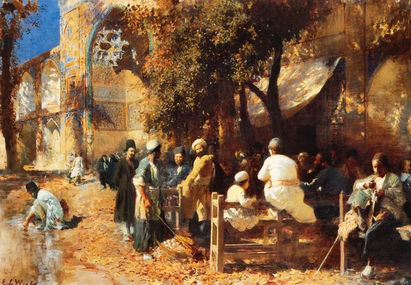 Картина «Персидское кафе» Эдвин Лорд Уикс (1849-1903)