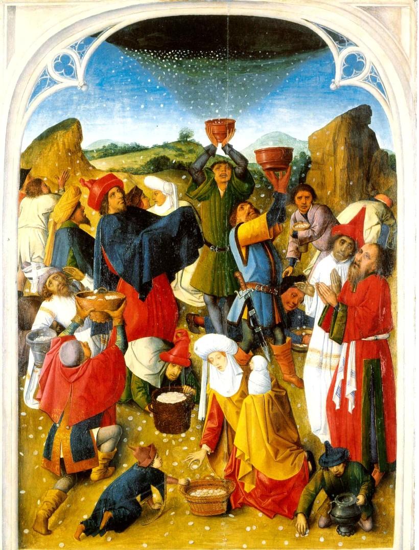 Сбор манны небесной. Анонимный автор. 1460–1470 гг.