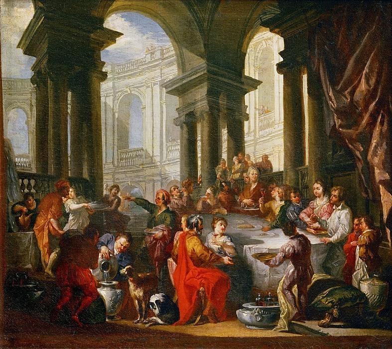 «Застолье под ионическим портиком». Художник Джованни Паоло Панини (1691–1705)