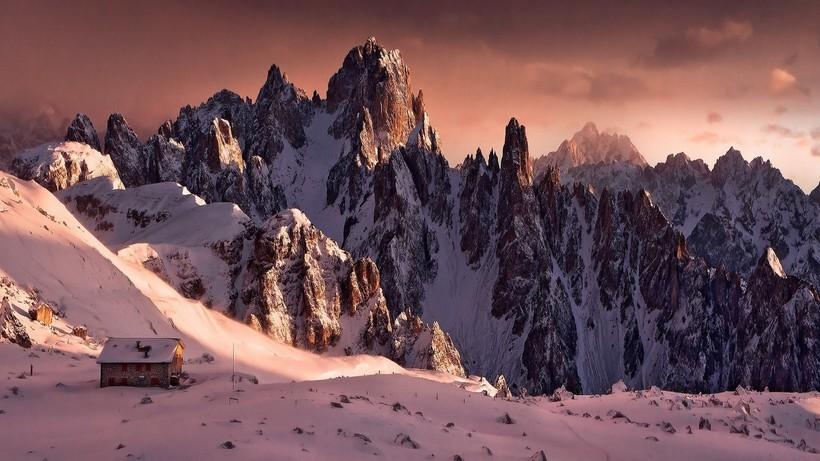 Доломитовые Альпы зимой