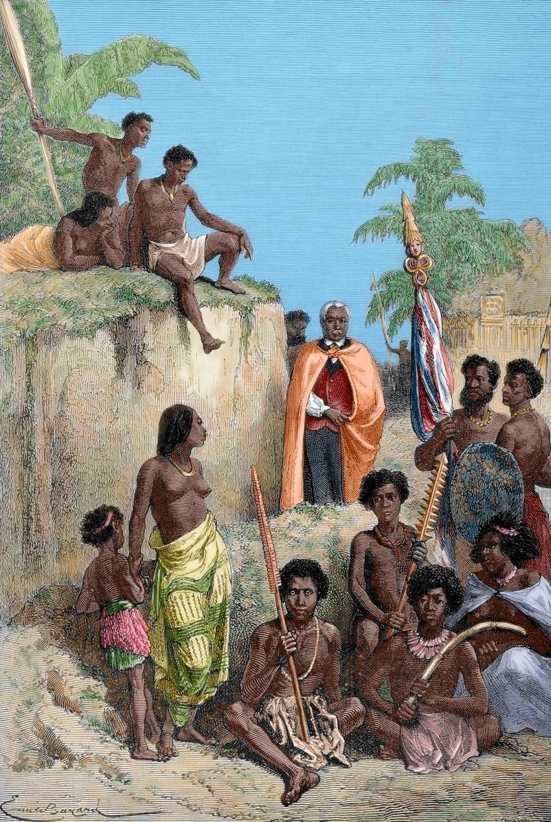 Король Камеамеа I и его солдаты, 1819