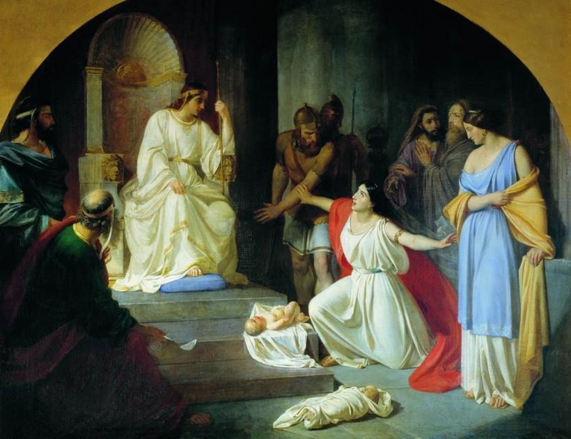 «Суд царя Соломона». Николай Ге.