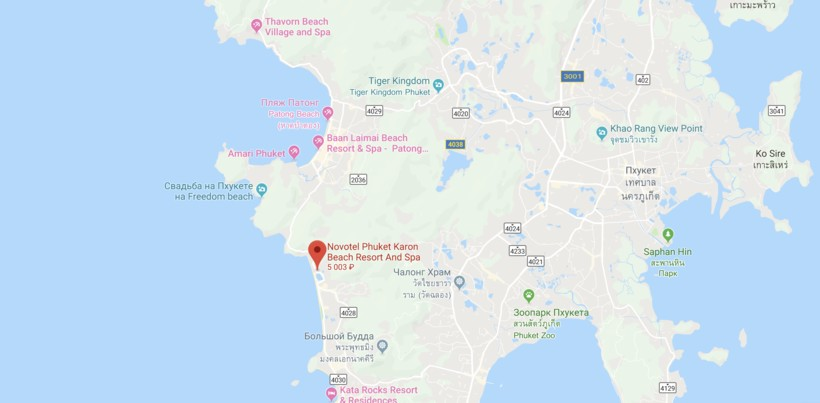 Novotel Phuket Karon Beach Resort & SPA на карте