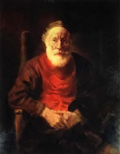 «Портрет старика в красном». Рембрандт