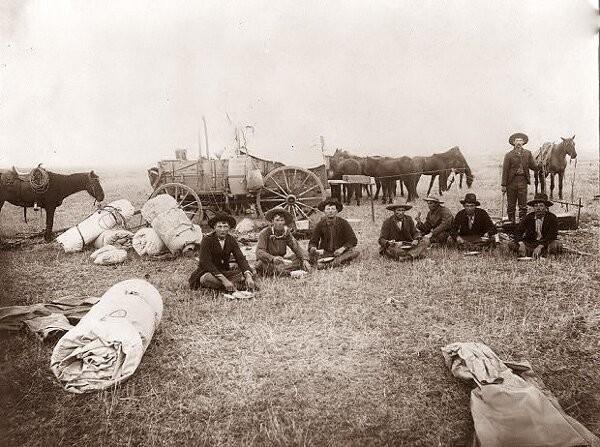 Лагерь возле ранчо. 1902 год