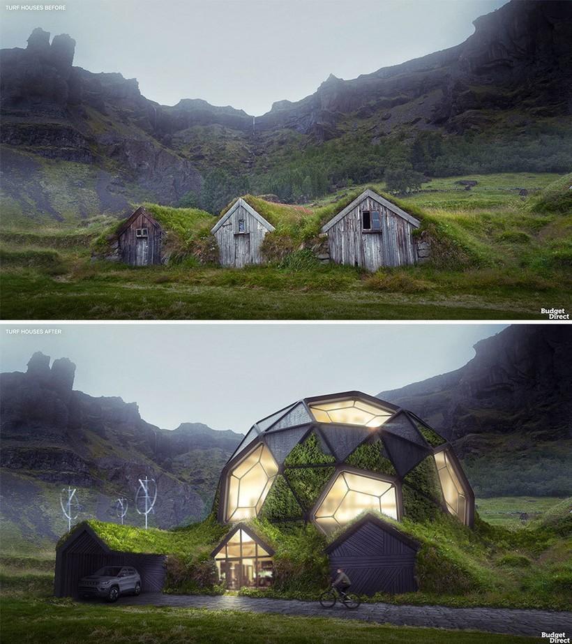 Исландский дерновой дом