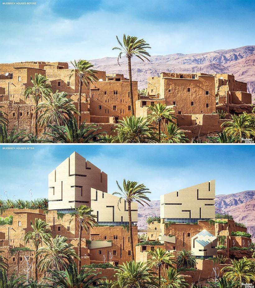 Дом из грязевого кирпича в Египте