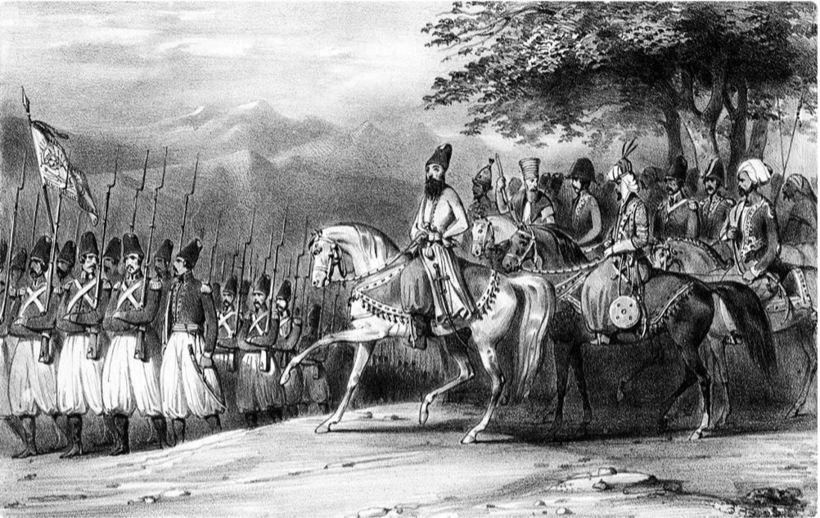 Персидская армия под командованием Аббаса-Мирзы